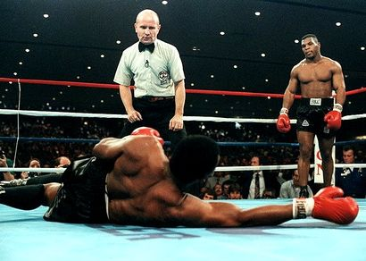 (Mike Tyson knocks out Trevor Berbick in the 2nd round, for the WBC World Heavyweight title, 11/22/1986)