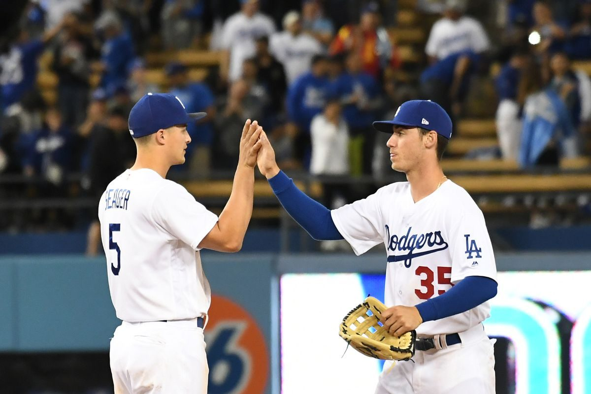 Cody+Bellinger+and+Corey+Seager