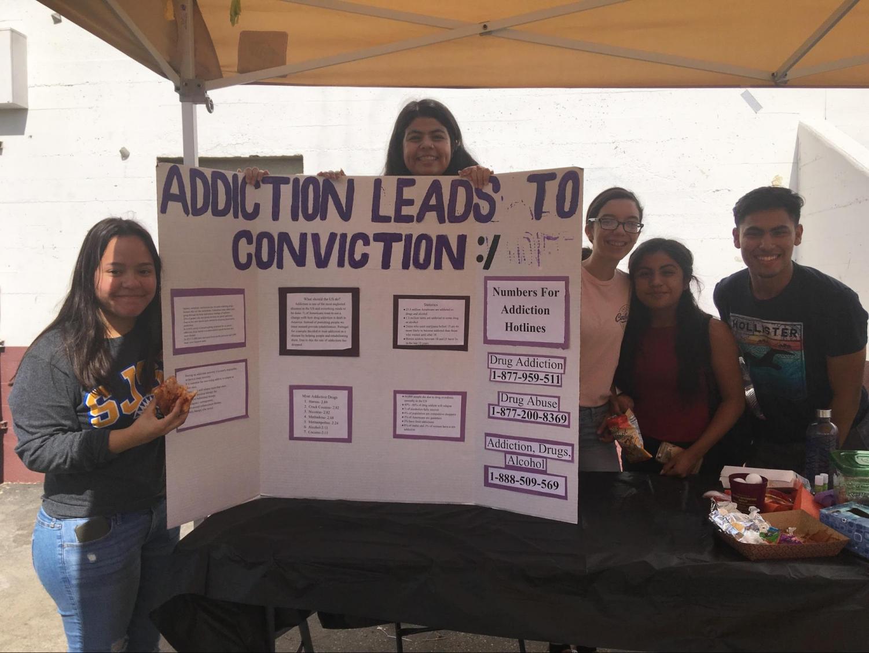 ASB students from left to right, Senior Brenda Barraza, Senior Elisa Soto, Senior Galilea Padilla, Sophomore Rachel Soto, Senior and ASB President Jacob Duran presents