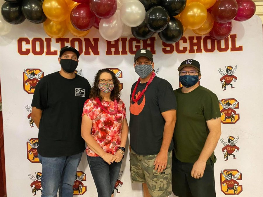 Coltons SDC team (from left: Alex Ramos, Karen Terry, Chad Hackworth, Michael Parshall) brings the joy.