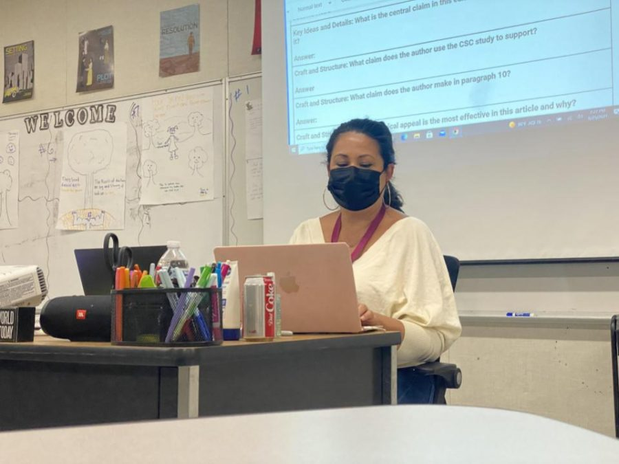CHS teachers, like Ms. Leticia Gomez, are hard at work preparing for a virtual Back-to-School Night this year.