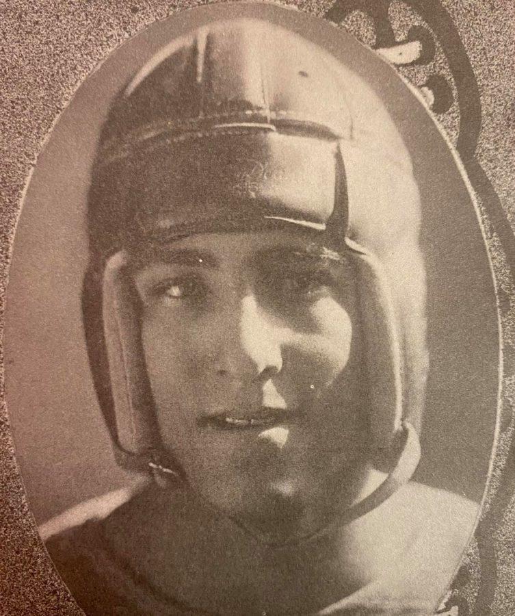 Early Yellowjacket football star, Norman Fawley, Class of 1926.
