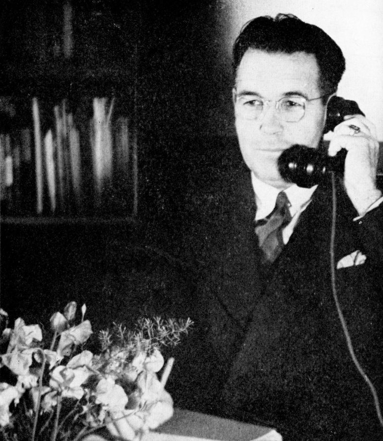 Donald H. MacIntosh served as principal for Colton High School for 30 years, from 1930-1960, during which time he often took calls just like this one in 1946.