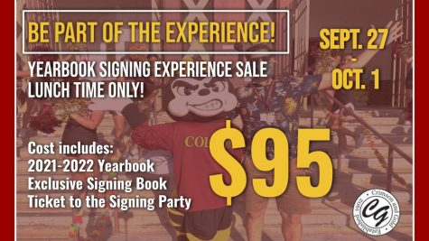 The Crimson & Gold Yearbook is selling The Yearbook Experience during the week of September 27. For $95, students will receive a yearbook, a ticket to an exclusive signing party during second quarter, and a special 16-page yearbook sample called A Taste of History.