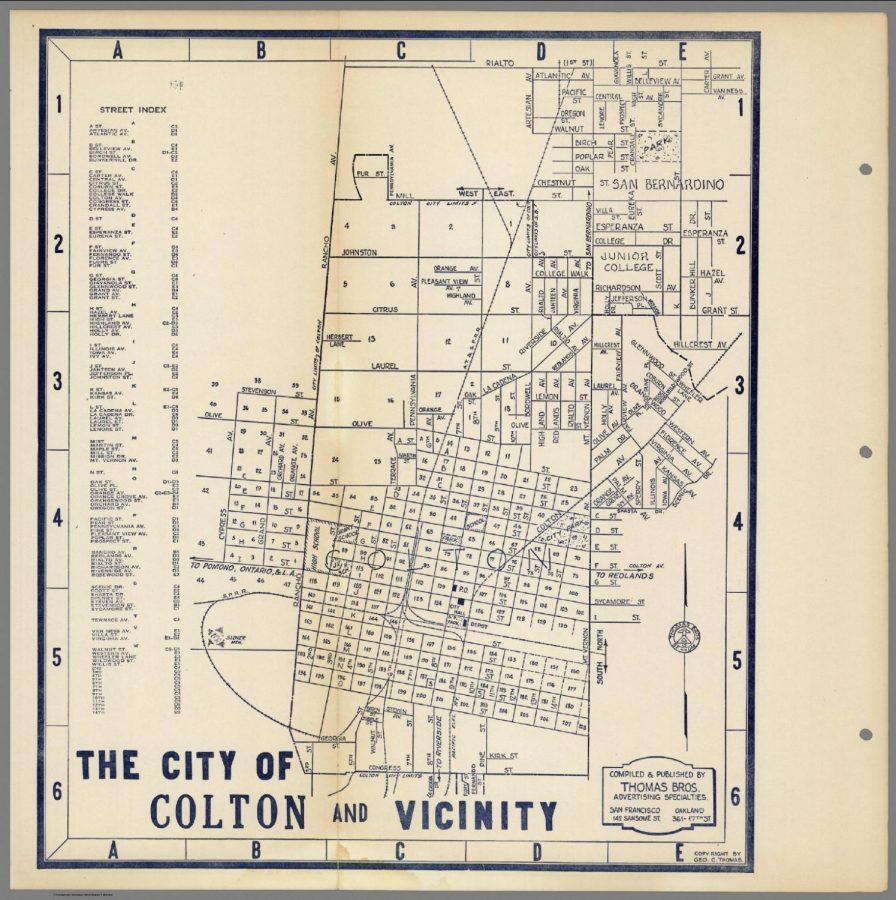 The City of Colton, circa 1921.