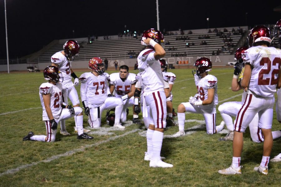 The Colton Yellowjackets football team is set to take a knee this week as COVID protocols result in the cancellation of their non-league game against Jurupa Hills High School