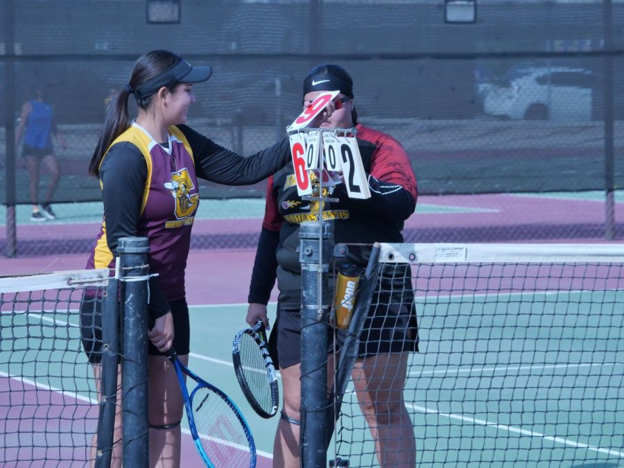 Kimberly Emilio and Sydney Castro turn over another victory on the score card.