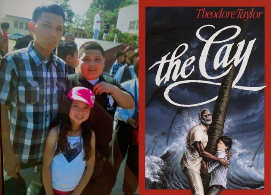 The author, with her older brother, BJ (left), began seeing the world through his eyes after reading Theodore Taylors novel, The Cay.