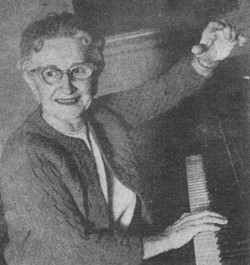 Ms. V. Marguerite Brooks started the Marching Band at Colton High School during her tenure from 1930-1964.
