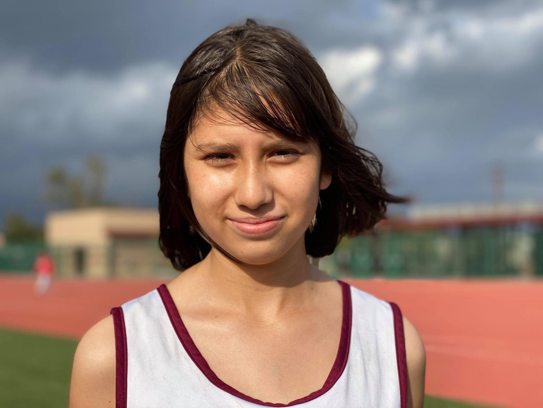 Freshman Elizabeth Hernandez loves to use running to clear her mind.