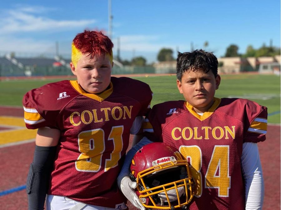 Logan Eiler (left) and Jesse Trujillo (right) are the captains for the Colton Junior All-American Micro Yellowjackets.