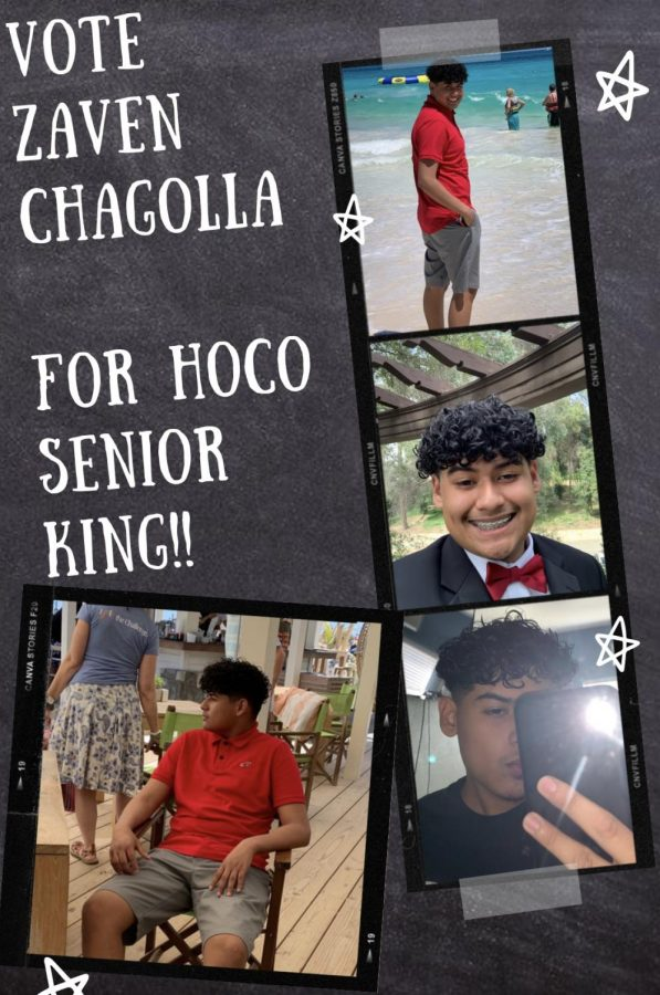 Zaven Chagolla is running for Senior Homecoming King.