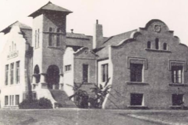 The first Colton High building, constructed in 1904, was located just north of I Street (now known as Valley Boulevard) and east of 2nd Street. It stands roughly where the current cafeteria building is.