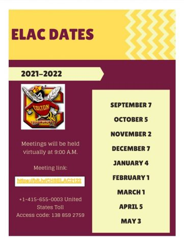 The English Language Advisory Committee (ELAC) meets monthly to discuss matters concerning Colton Highs English Learner students.