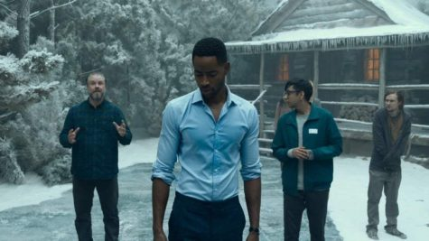 The characters in 2019s Escape Room find themselves in all sorts of intense, life-or-death situations, like in this scene in which the group of victims is forced into a room in which the freezing temperatures only makes for half of the terror.