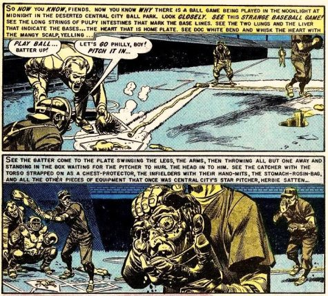 Comic book stories like this one, Foul Play from 1953s Haunt of Fear issue 19, led many parents and child advocates to believe comic books were a leading cause in juvenile delinquency.