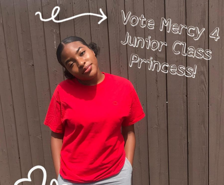 Mercy Mgbemere is running for Junior Homecoming Princess.