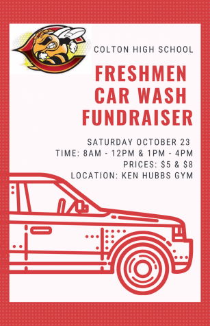 The Freshmen Class of 2025 are hosting a car wash fundraiser on Saturday, Oct. 23 from 8-12 and 1-4.