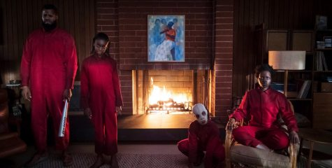 In Jordan Peeles Us, a family finds themselves under siege by angry, red jumpsuit-clad versions of . . . themselves.